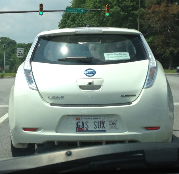 Nissan Leaf: a moving bumper sticker for conserving resources